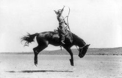 Champion cowgirl rider Kitty Canutt on Winnemucca, 1916