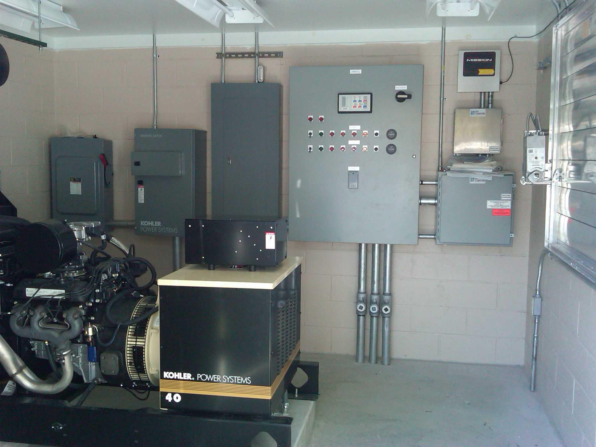 Enclosed pump station