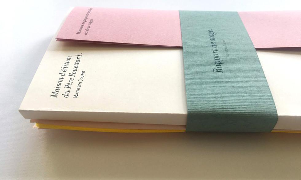 Design éditorial contemporain - Couleurs pastels - Édition rose poudrée