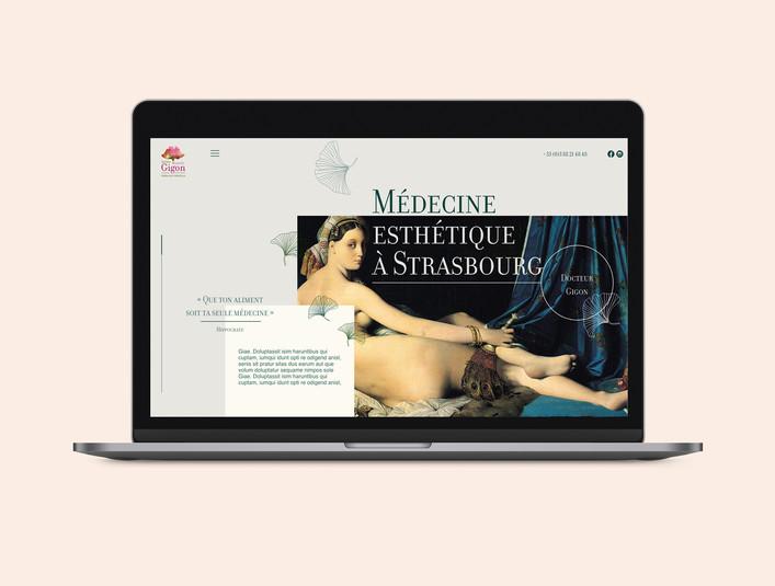 Webdesign - graphisme d'interface web médecine esthétique - Docteur Gigon à Strasbourg