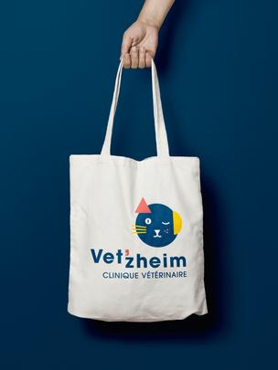 Identité visuelle - Logo - Vet'zheim - Cabinet vétérinaire en Alsace