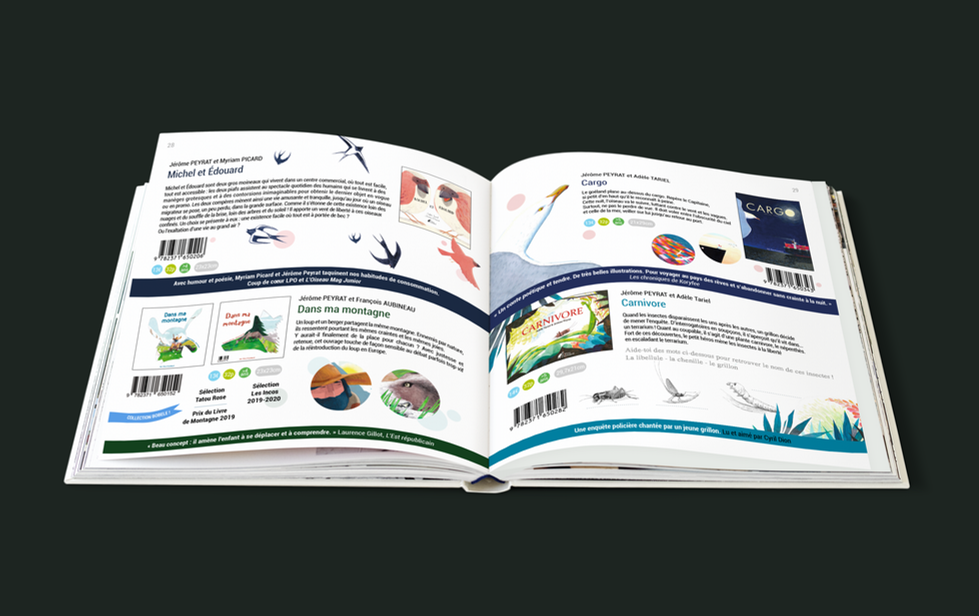 Design graphique éditorial - Mise en page - Catalogue de présentation de livres - Éditions Père Fouettard
