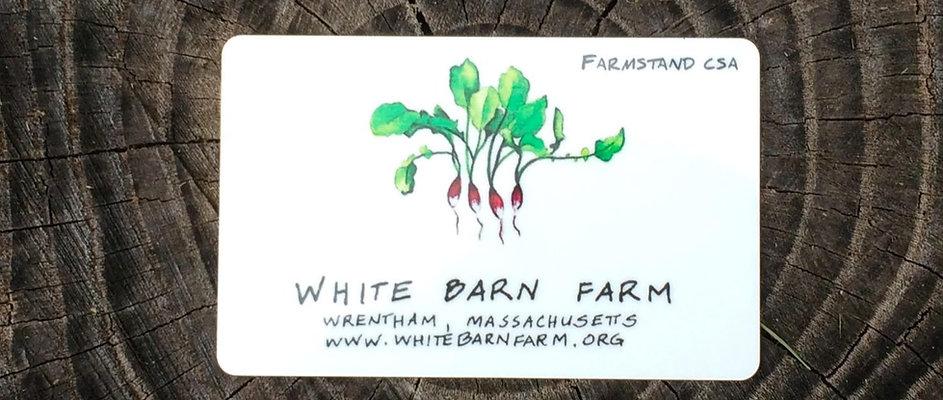 Farmstand CSA Card