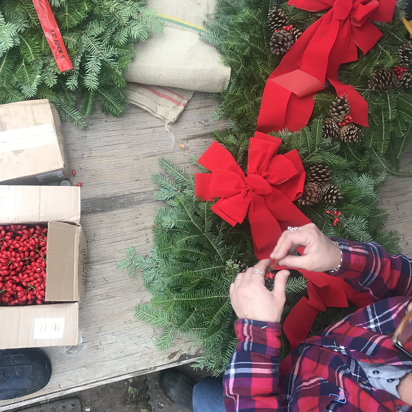Holiday Wreath Workshop - Wine and Design