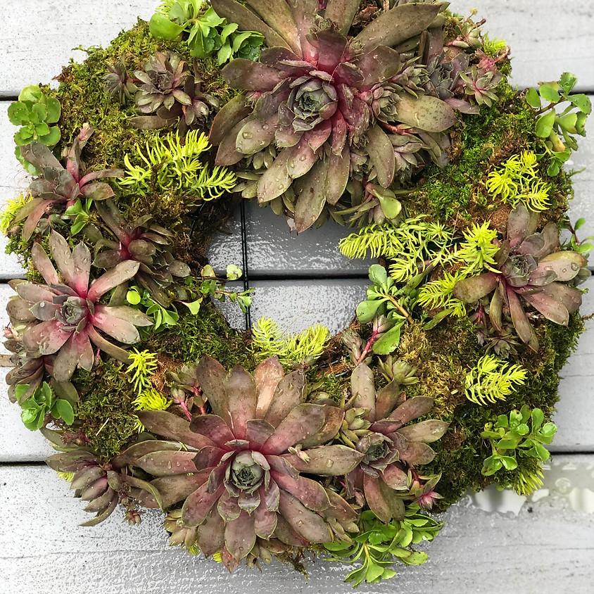 Wine and Design - Succulent Wreath