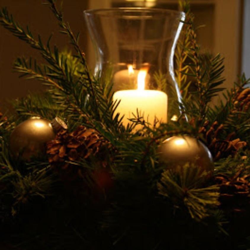 Christmas Hurricane Candle Centerpiece Workshop @ 12pm