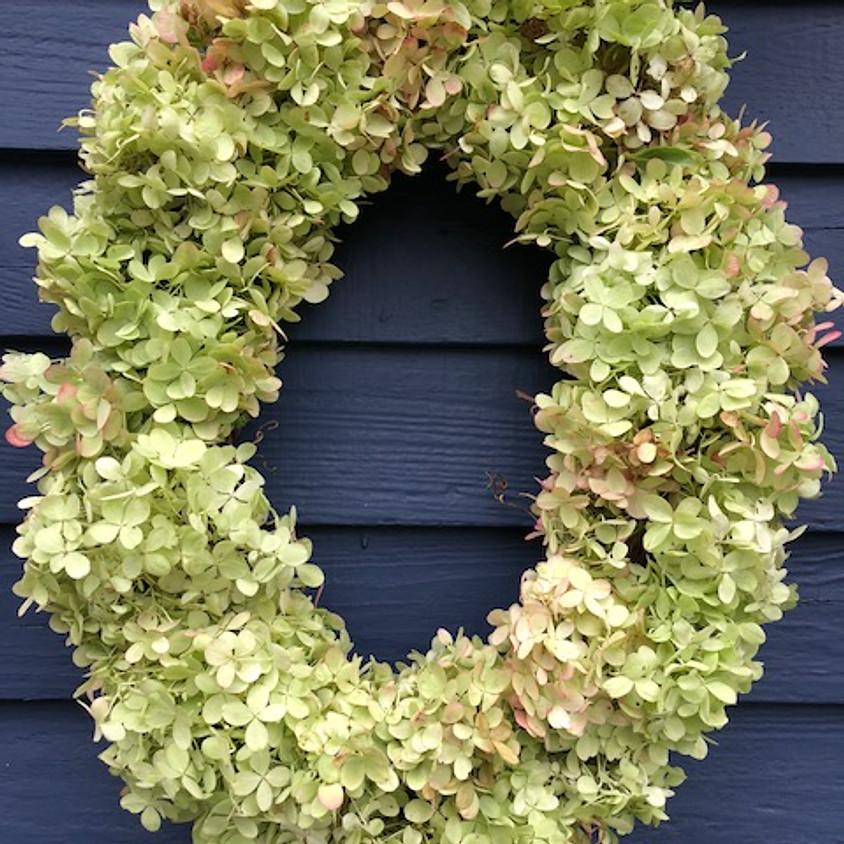 Wine and Design - Hydrangea Wreath Workshop