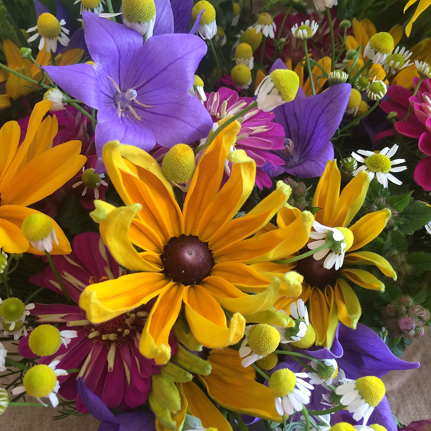 Wine and Design Flower Arrangement