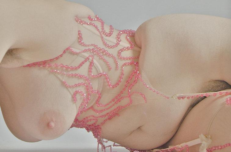 Michaela Stark Swarovski Crystal corset self portrait
