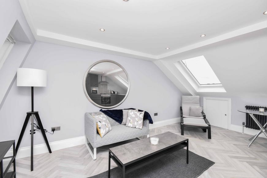 Open Plan Living Space In Loft Extension