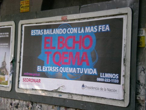 Government anti-drug poster, Argentina