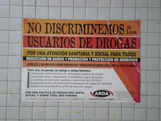 Anti-drug user discrimination poster, Argentina