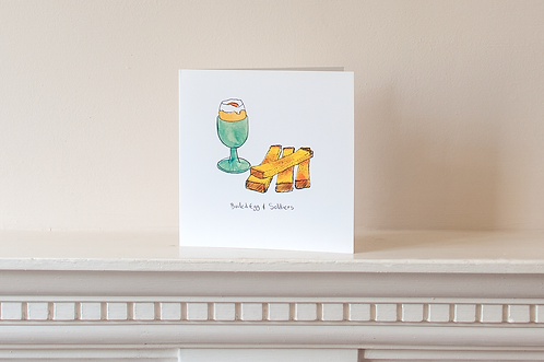 Boiled Egg and Soldiers Card