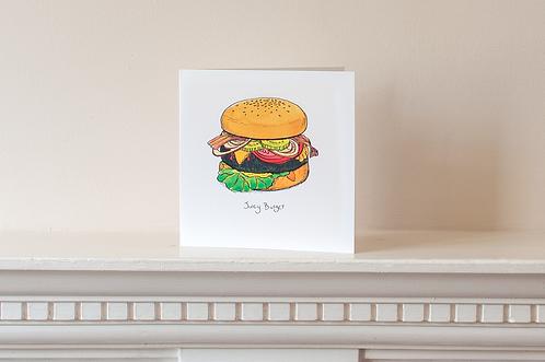 Juicy Burger Card