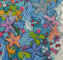 """Detail from """"Starfish"""" abstract"""