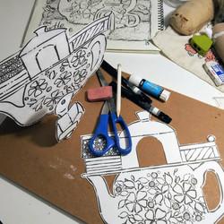 My drawing desk