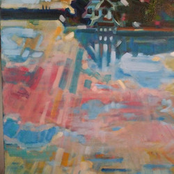 """Detail from """"Clouds over Sarasota"""""""