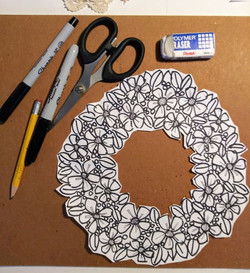 A wreath made for a 3D project!