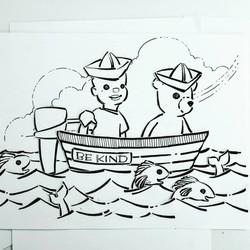 Jimmy & Honeybear boating!