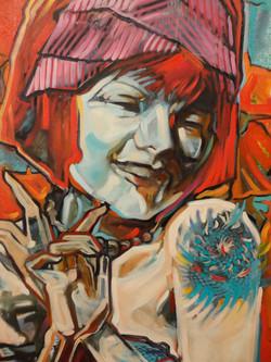 """Detail of """"lil Gingko 1927"""""""