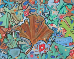 "Detail from ""Gingko"" abstract"