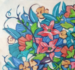 """Detail from """"Abstract floral 1"""""""