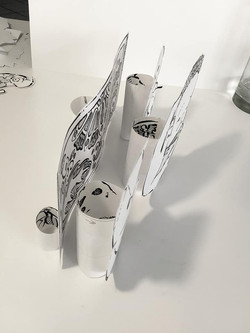 Pic of several 3D paper projects