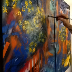 Atep 2 in painting Leslie Jones