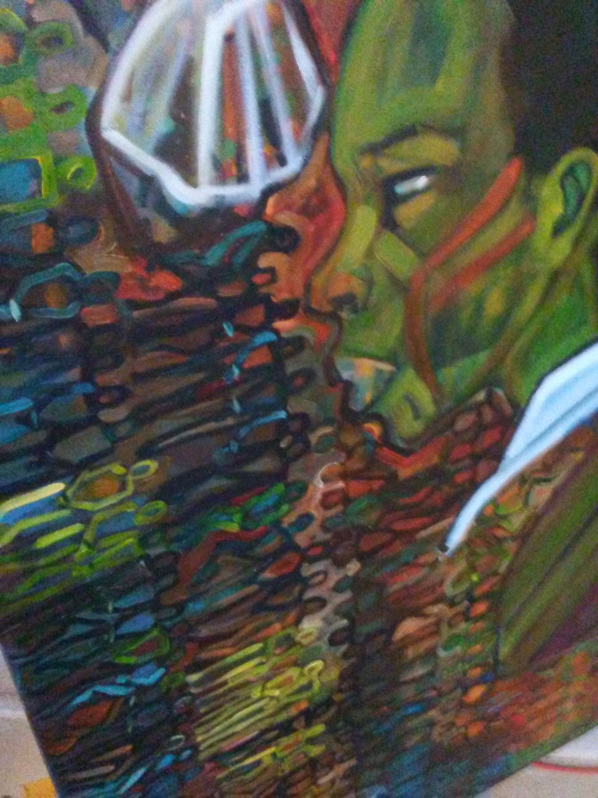 Detail from 2 panel piece