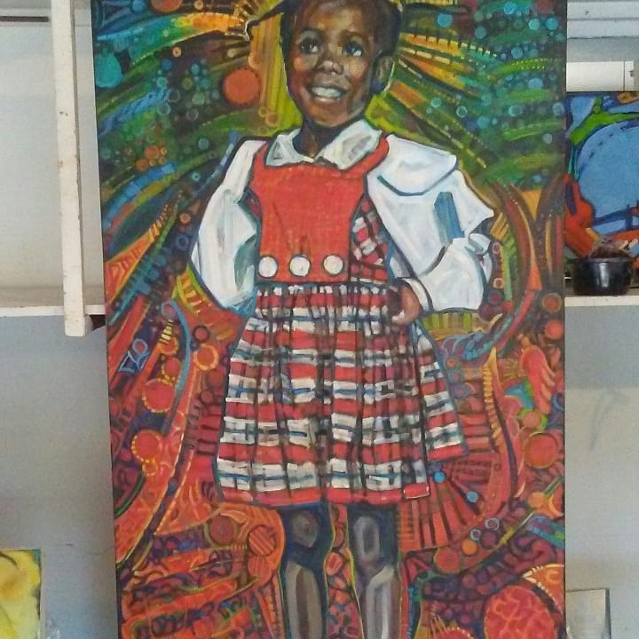 """Ruby Bridges"" in studio"