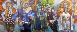 4 panel/5 portrait piece
