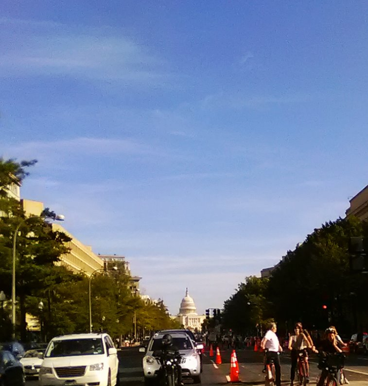 Looking up Penn Ave at the CAPITAL!