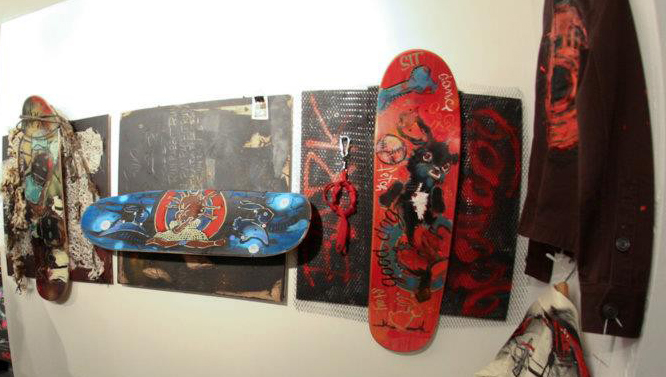 Deck collages & painted clothing