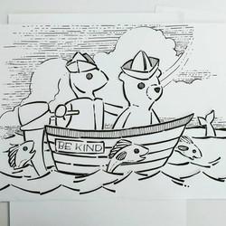Max & Honeybear boating!