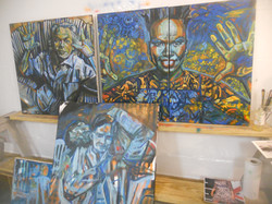3 paintings in 3 stages