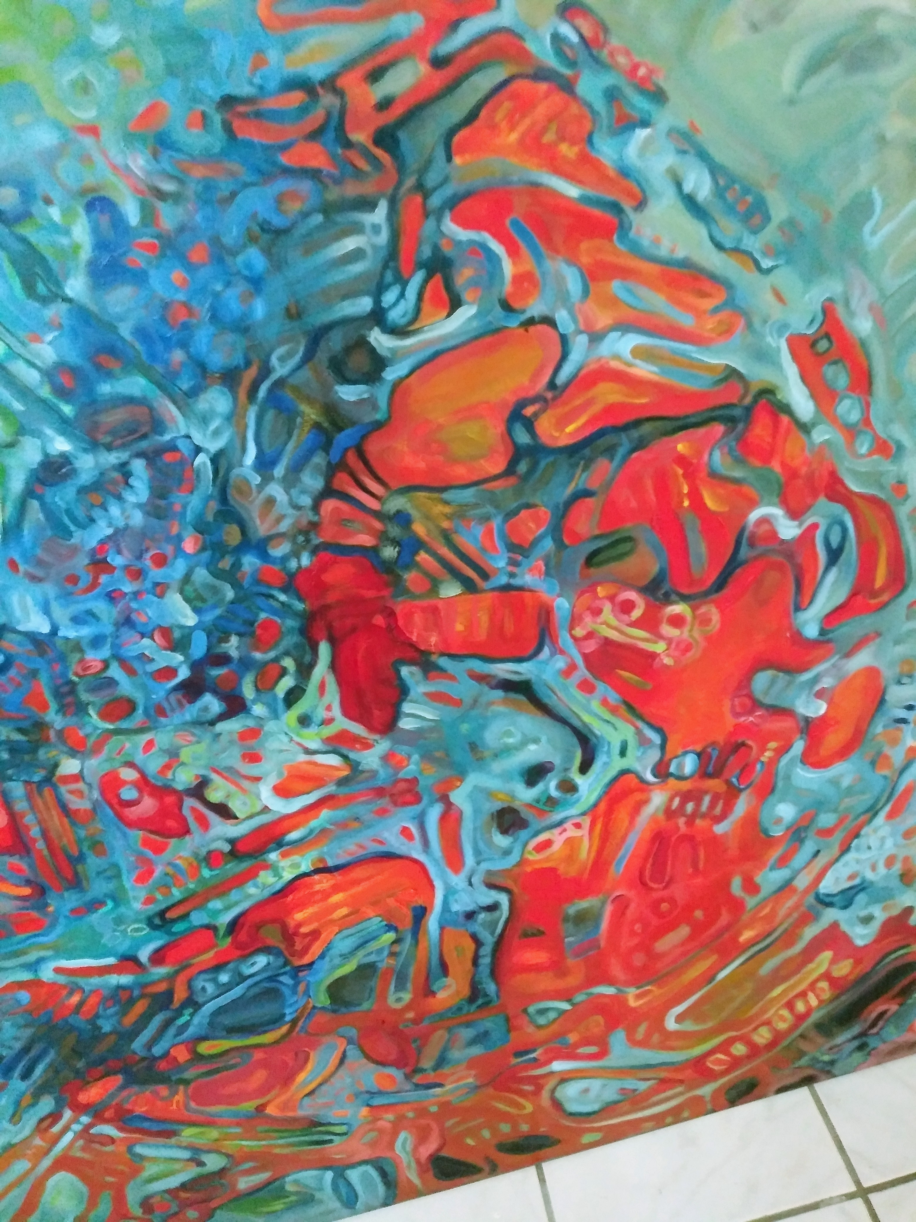 """Detail from """"Birth of Ganesh"""""""