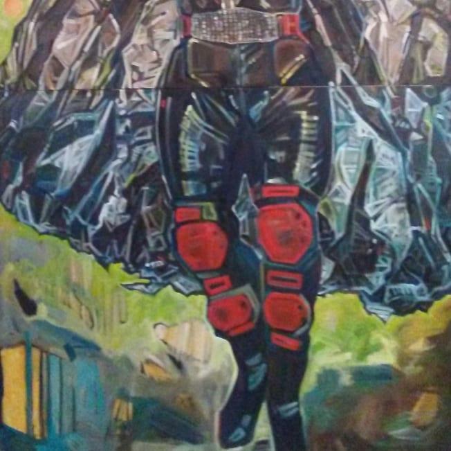"Detail from ""Kandi Dishe: Spaceman"""