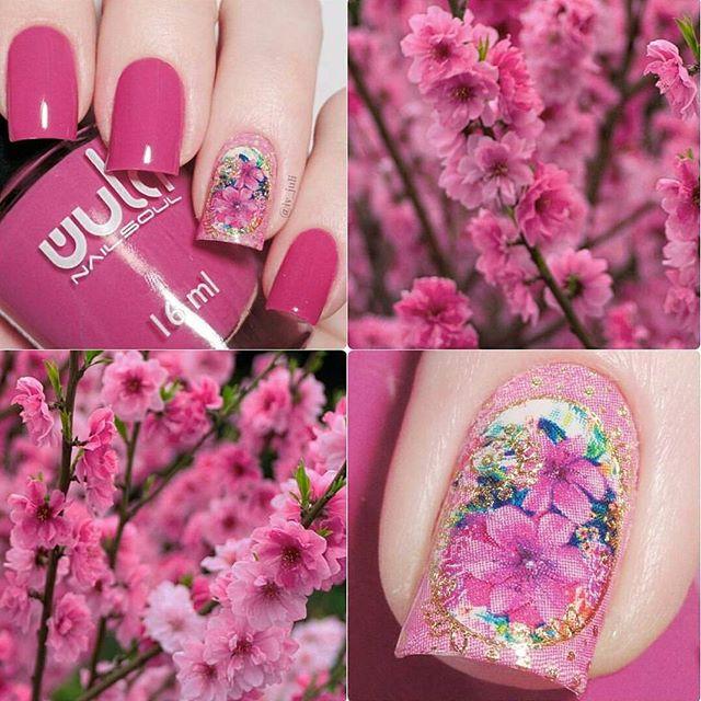 Сама нежность #wula_nailsoul в маникюре _iv_juli 🌸🌸🌸_#wula #wulanailsoul #pinknails #floralnails