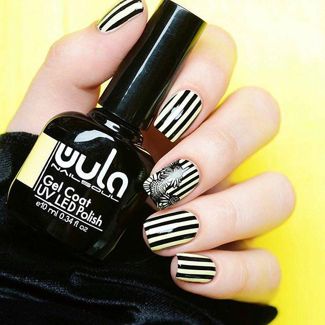 Потрясающий дизайн от _mrs_brooke с #wulagel 391💛__#wula_nailsoul #wula #wulanailsoul