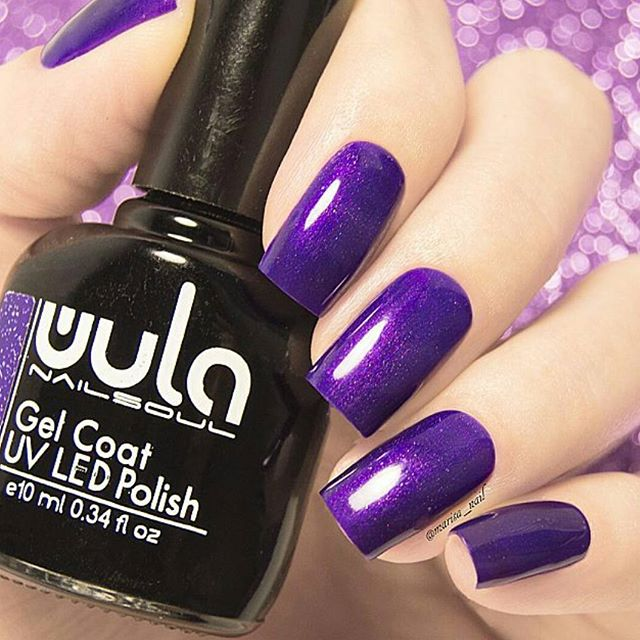 Совершенно волшебный #wulagel 345 на очаровательных ноготках _marisa_nail 💜_#wula #wula_nailsoul #w
