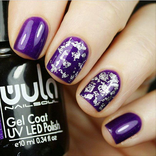Королевский фиолетовый #wulagel 345 на ноготках _cazus_belli _#wula #wulanailsoul #wula_nailsoul