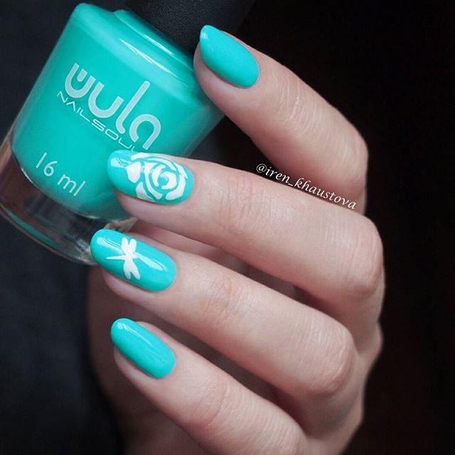 Освежающая мята #wula_nailsoul 39 на ноготках _iren_khaustova 💙_#wula #wulanailsoul