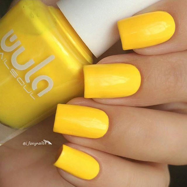 Яркий, солнечный #wula_nailsoul #juicycolors на ноготках _i_foxynails _#wulanailsoul #wula