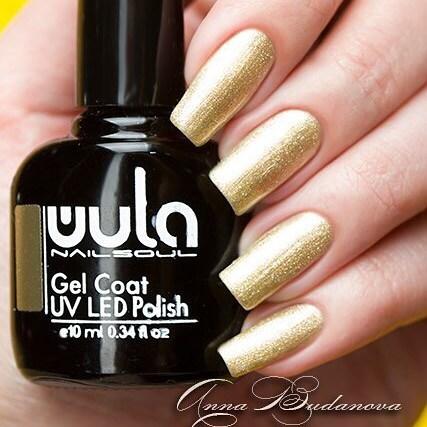 Благородное золото в маникюре _anny_budanova 👑_#wulagel 377_#wula_nailsoul #wulanailsoul #wula