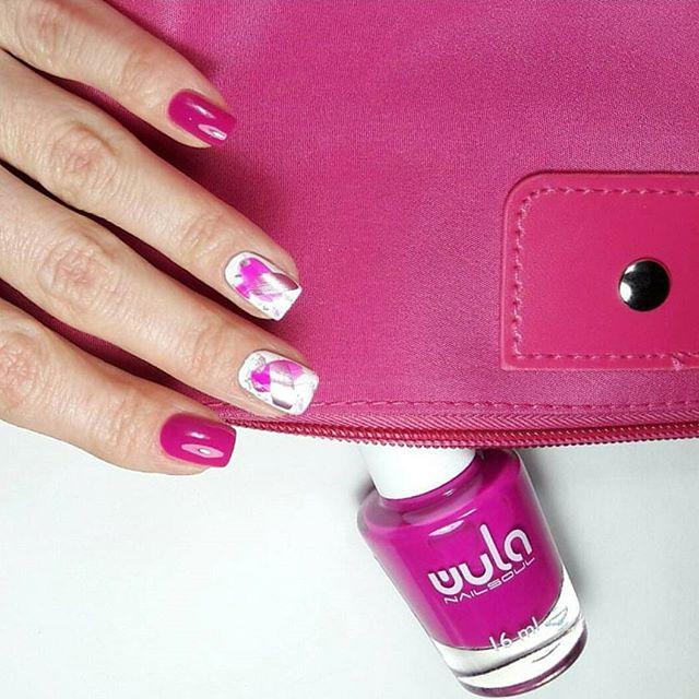 Привлекайте внимание с #wula_nailsoul #juicycolors! 😉_Оттенок 803 на ноготках _olga_valihina 💗_#wu