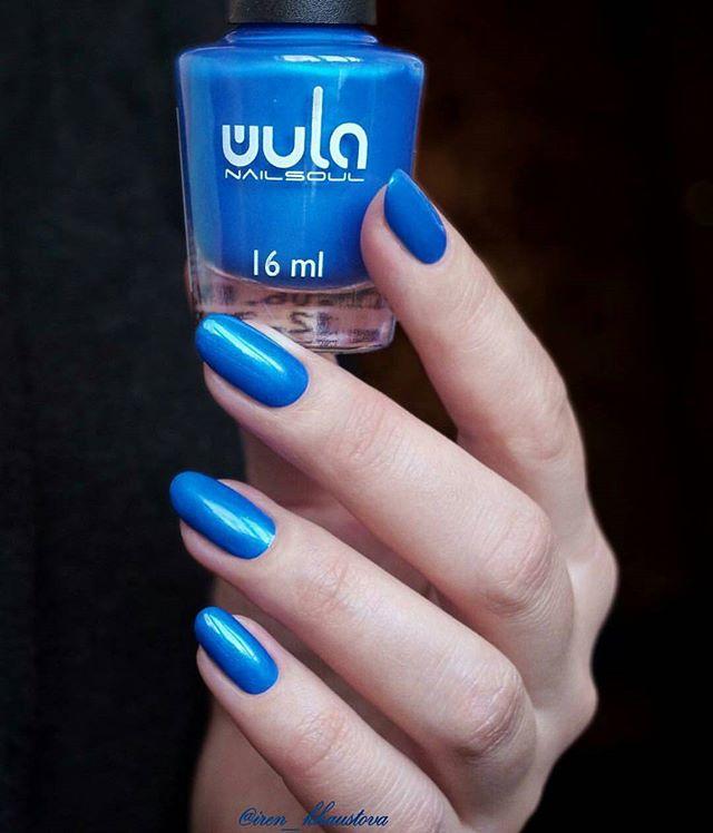 Прекрасный синий #wula_nailsoul 35 на прекрасных ноготках _iren_khaustova 💙💙💙_#wula #wulanailsoul