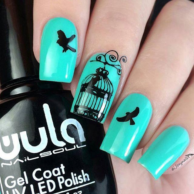 Изящный дизайн _i_foxynails с #wulagel 388__#wula #wula_nailsoul #wulanailsoul