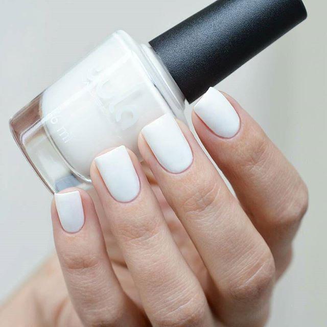 Идеальный белый #wula_nailsoul 58 на красивых ноготках _angency 😍_#wulanailsoul #wula