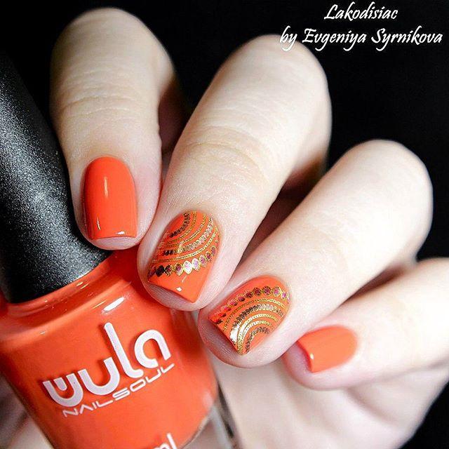 Яркий, летний #wulanailsoul 🍹🍹🍹_#wula #wula_nailsoul #orangenails