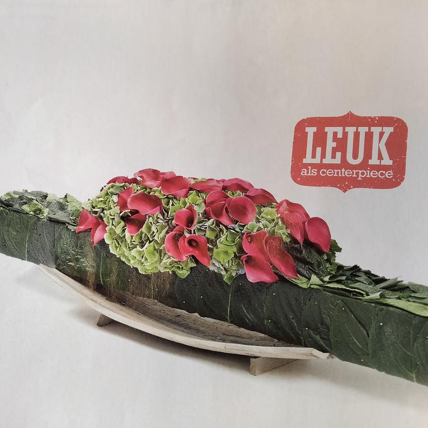Workshop bloemschikken: Callabalk, een fris tafelstuk